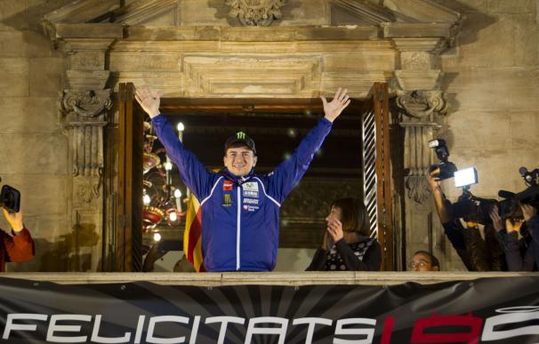 Jorge Lorenzo celebra su título mundial en Palma de Mallorca