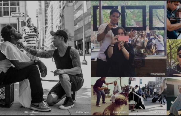 Un peluquero de famosos revoluciona Instagram por hacer cortes gratis a las personas sin hogar