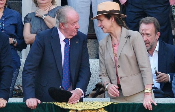 El Rey Juan Carlos y la Infanta Elena derrocharan complicidad en Las Ventas