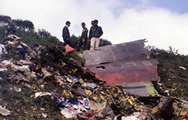 Foto archivo del accidente del vuelo Avianca
