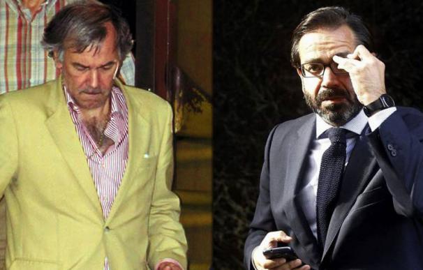 Ricardo Azcoaga Quincoces (con chaqueta clara) y Pedro Farré