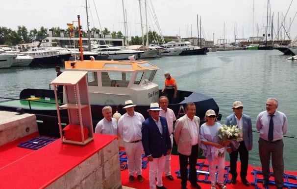 El sector náutico bota la primera embarcación de acero construida en Baleares desde los años 80 en honor a Antoni Riera