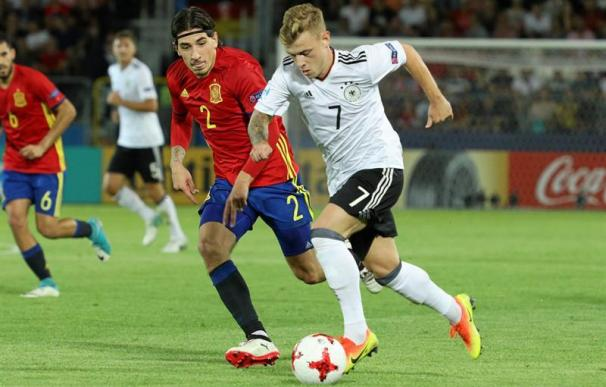 Alemania frustra el sueño de España y se proclama campeona de Europa Sub-21 (EFE/EPA/Stanislaw Rozpedzik)