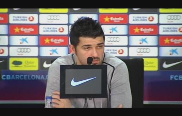 """Villa sobre la tarjeta a Piqué: """"Ahí tenéis el acta del árbitro"""""""