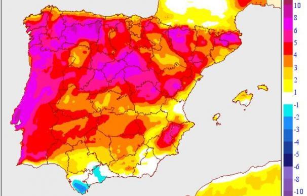 Hoy, las temperaturas serán más bajas de lo normal en la mayor parte de España