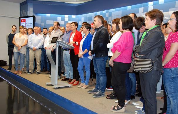 """Chivite quiere """"liderar el nuevo cambio y presidir el Gobierno de Navarra"""" en """"equipo y de la mano de la sociedad"""""""