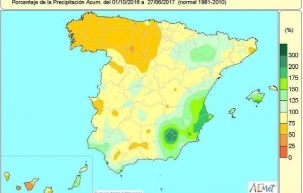 La falta de lluvias acumulada de lluvias en España se mantiene en el 13% pero se agudiza en el noroeste hasta el 25%