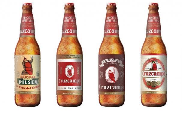 Cruzcampo lanza una colección histórica de 120 millones de botellas emblemáticas durante este verano