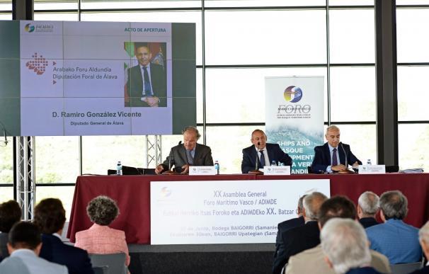 La facturación de las empresas marítimas vascas aumentó un 3,5% en 2016 con un total de 2.943,5 millones de euros