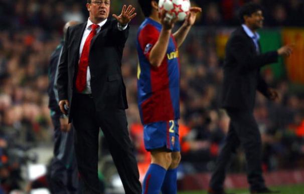 Rafa Benítez venció al Barcelona en el Camp Nou con Liverpool y Valencia. / Getty Images