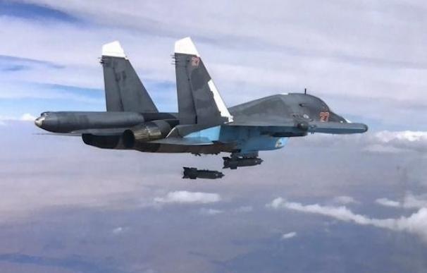 La aviación rusa bombardea 53 objetivos de Estado Islámico en Siria
