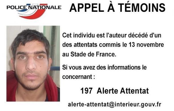 La Policía francesa pide ayuda para identificar a uno de los terroristas del estadio