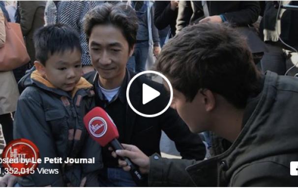 Niño parisino le pregunta a su padre sobre los atentados de París