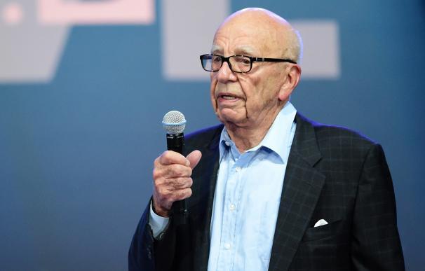 Media magnate Rupert Murdoch addresses the opening