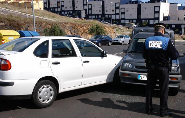 Suben un 3% las bajas laborales por accidentes de tráfico en Canarias
