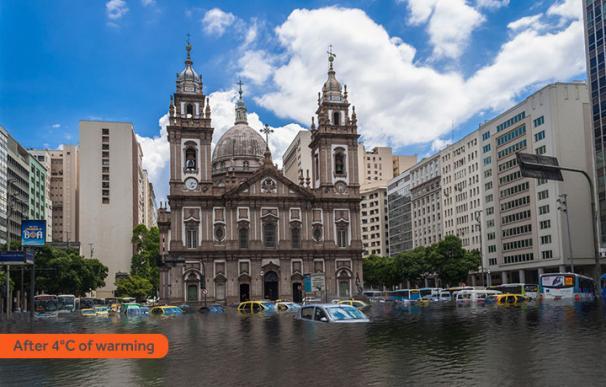 Río de Janeiro inundado por la subida de 4ºC
