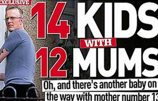 Jamie Cummings fue portada de la revista People en agosto, cuando sólo tenía 14 hijos con 12 madres distintas.