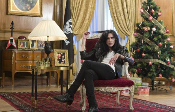 Mario Vaquerizo presentando el especial navideño de MTV España.
