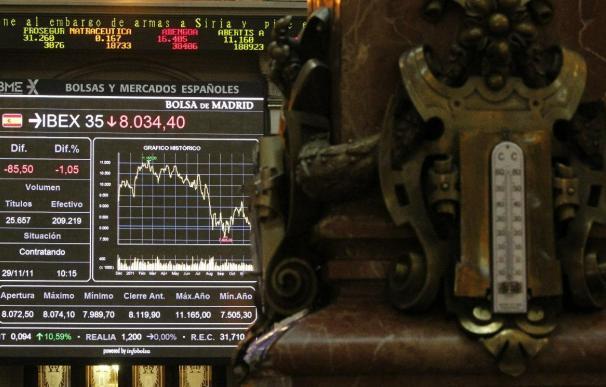 La bolsa española sube un 0,1 por ciento y consolida los 8.100 puntos