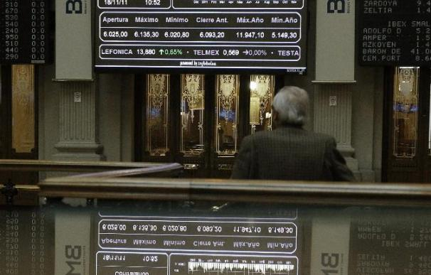 La Bolsa española rebota al mediodía y sube un 0,47 por ciento