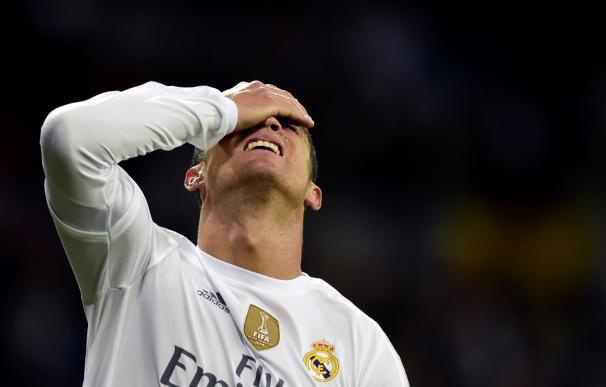 Cristiano Ronaldo durante el Clásico. / AFP