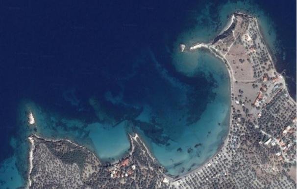 Imagen por satélite de la posible isla donde estaba Canae, ahora península