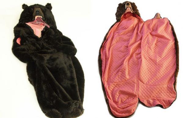 saco de dormir con forma de oso