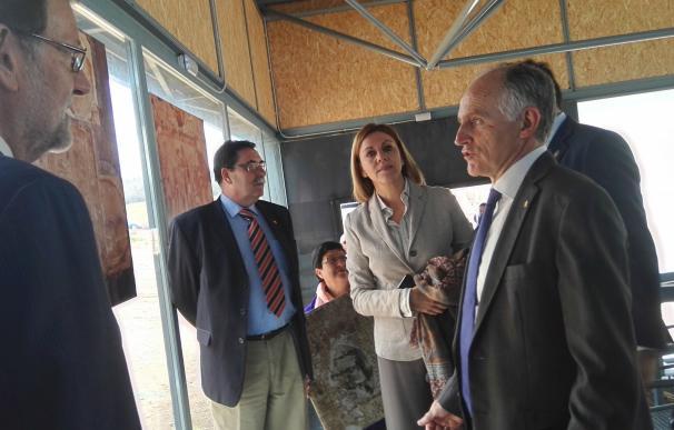 Rajoy se interesa por el mosaico de la villa romana de Noheda en Villar de Domingo García (Cuenca)
