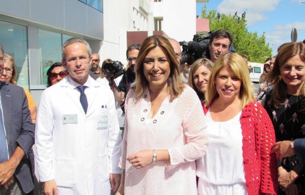 Díaz visita la Unidad de Radioterapia de Jerez y anuncia las urgencias de La Milagrosa para este jueves