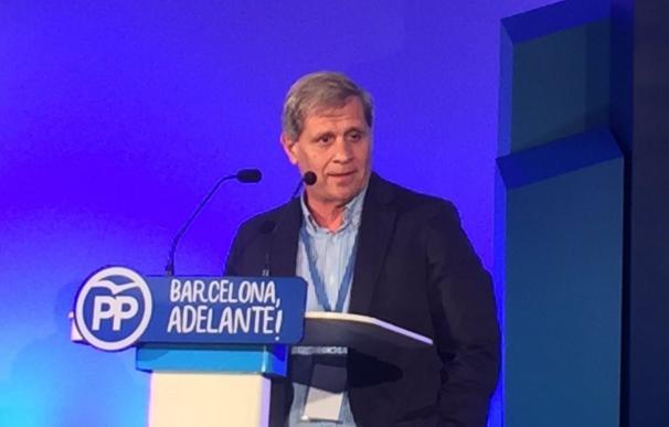 Alberto Fernández (PP) exige al PSC que salga del Gobierno municipal de Barcelona si Colau respalda el referéndum