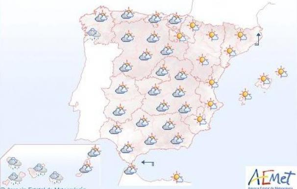 Mañana, lluvias en el tercio oeste peninsular y Canarias, donde serán fuertes