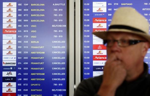 Cancelados 1.705 vuelos en los aeropuertos españoles