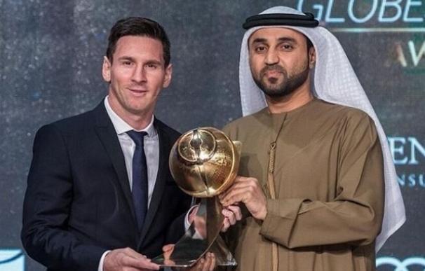 Leo Messi, Bartomeu y el FC Barcelona copan los premios de los 'Globe Soccer Awards' en Dubai