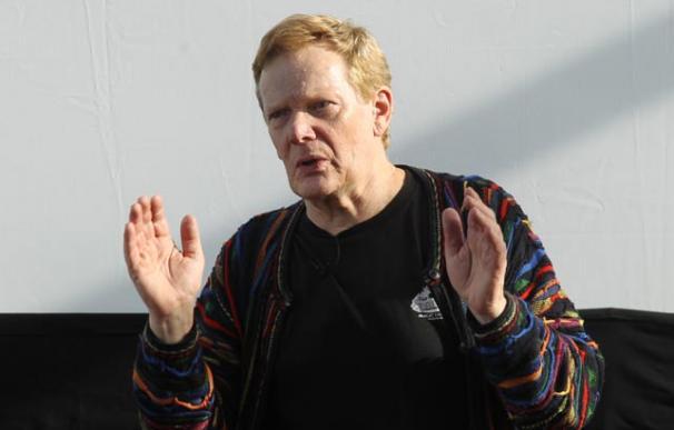 Philippe Petit, durante su visita a Madrid con motivo del estreno de 'El desafío' / José González