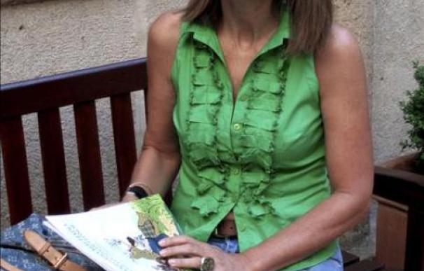 Carmen Posadas escribe siempre de espaldas a la ventana para no distraerse.