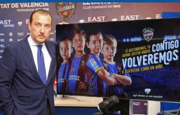 El Levante regalará el abono de Primera a quienes apoyen al equipo en Segunda