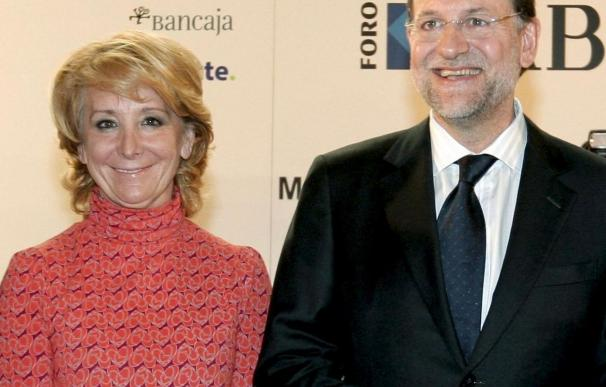 Rajoy y Aguirre inician hoy la campaña contra la subida del IVA