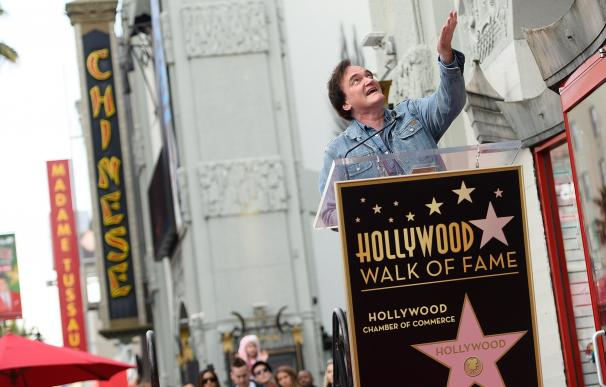 Director Quentin Tarantino attends his Hollywood W