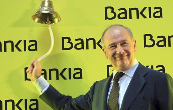 Rodrigo Rato, el día del estreno de Bankia en Bolsa