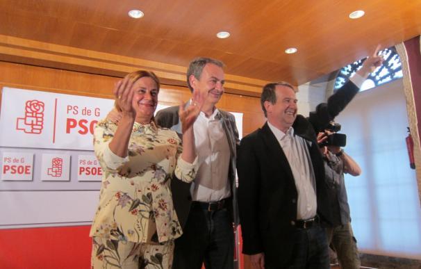 """Zapatero pide que sean """"los líderes"""" quienes tomen decisiones """"difíciles"""" y elogia el """"liderazgo"""" y """"convicción"""" de Díaz"""