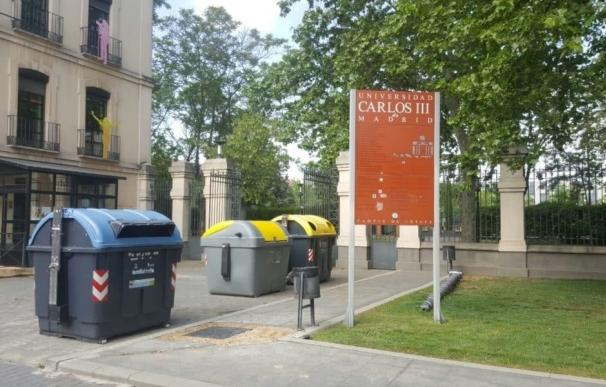 La empresa municipal de limpieza instala contenedores de recogida de envases ligeros en la UC3M