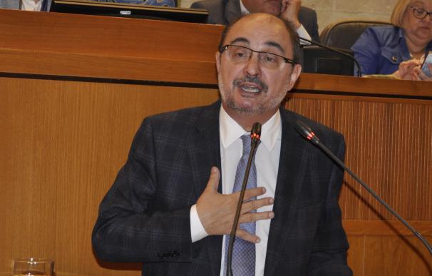 Lambán dice que la Ley de Capitalidad convierte a Zaragoza en la ciudad con mayor capacidad de gobierno