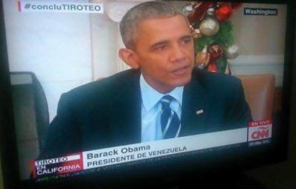 La CNN nombra a Barack Obama presidente de Venezuela/Twitter