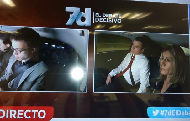 Pablo Iglesias y Pedro Sánchez, los primeros en ir al debate de Antena 3