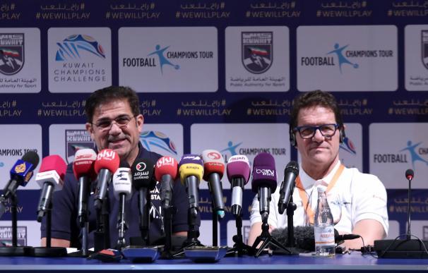 Italian coach Fabio Capello and Kuwaiti coach Moha