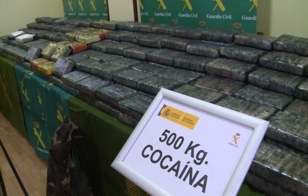 La Guardia Civil se incauta de 500 kilos de cocaína valorados en 40 millones en un contenedor procedente de Brasil