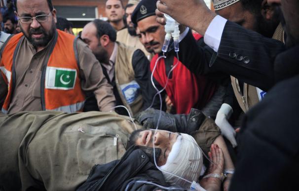 Una de las víctiamas del atentado de Pakistán