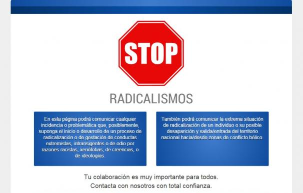 """El ministerio lanzaba la web """"stopradicalismo.es"""""""