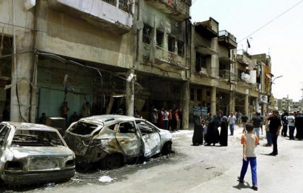 Imagen de un atentado reciente en Bagdad