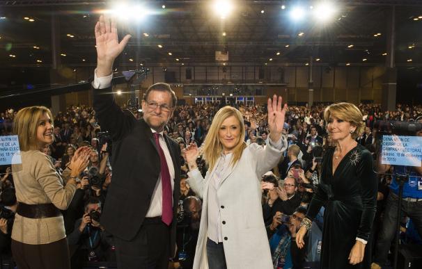 """20D.- Aguirre ensalza a Rajoy como el """"mejor para restaurar la concordia"""" y acabar con el """"odio de algunos"""""""